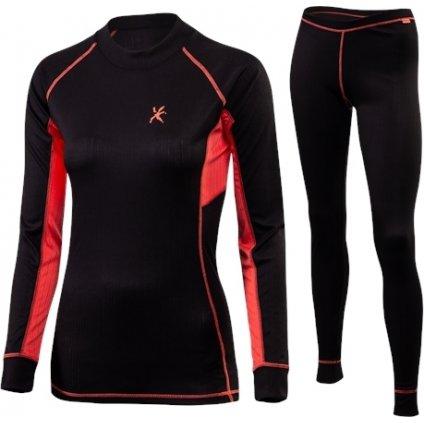 Dámský set zimního prádla KLIMATEX Abel černá