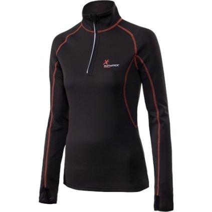 Dámský pulovr KLIMATEX Denise černá/korálová