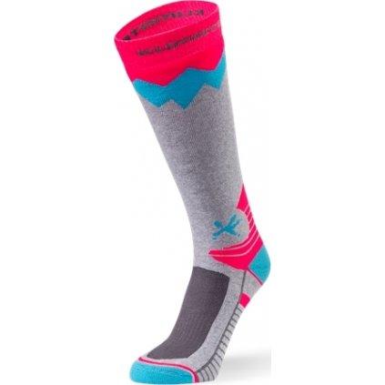 Dětské lyžařské ponožky KLIMATEX Toli šedá