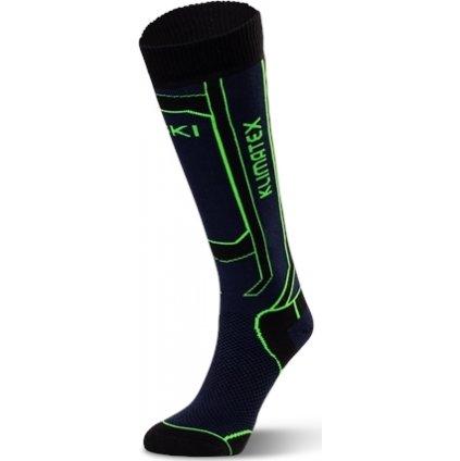 Dětské lyžařské ponožky KLIMATEX Nogy černá