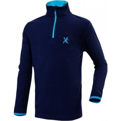Dětský fleecový pulovr KLIMATEX Dashi modrá
