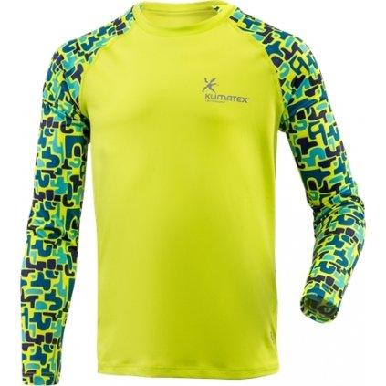 Dětské funkční triko KLIMATEX Taika žlutá