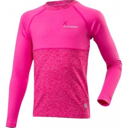 Dětské funkční triko KLIMATEX Willy růžová