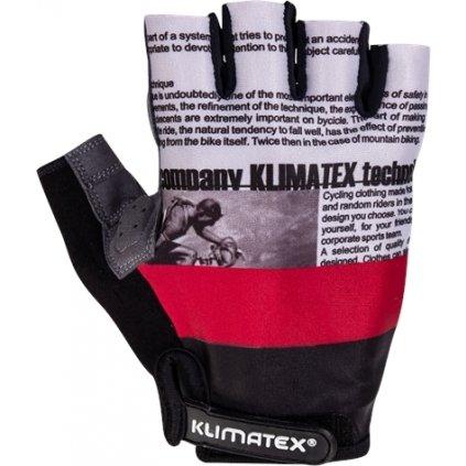 Pánské cyklorukavice KLIMATEX Jay červená