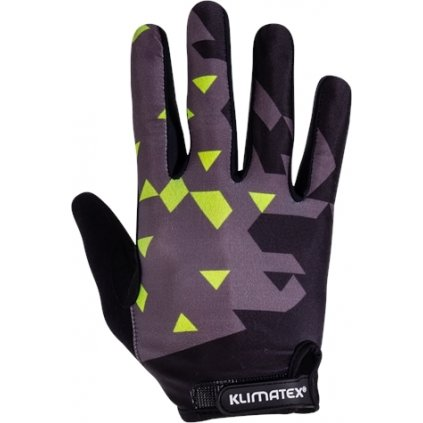 Pánské prstové cyklorukavice KLIMATEX Pirin černá