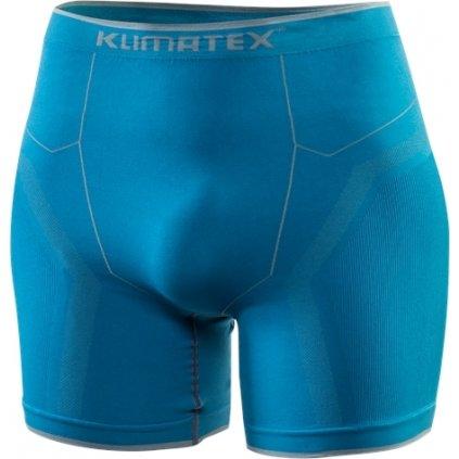 Pánské bezešvé boxerky KLIMATEX Marton modrá