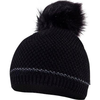 Pletená čepice KLIMATEX Juliet černá