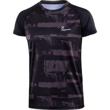 Pánské běžecké triko KLIMATEX Azal černá