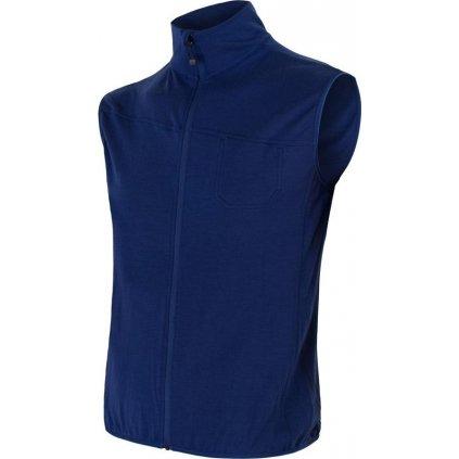 Pánské termo vesta SENSOR Merino extreme modrá