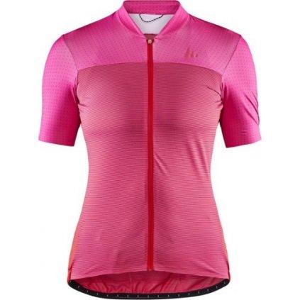Dámský cyklistický dres CRAFT Hale Glow růžová
