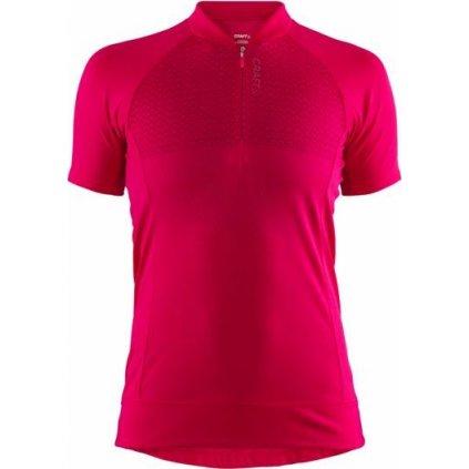 Dámský cyklistický dres CRAFT Rise růžová