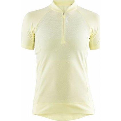 Dámský cyklistický dres CRAFT Rise žlutá