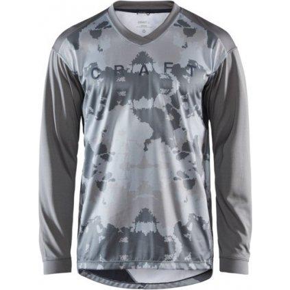 Pánský cyklistický dres CRAFT Hale Xt Ls šedá multi