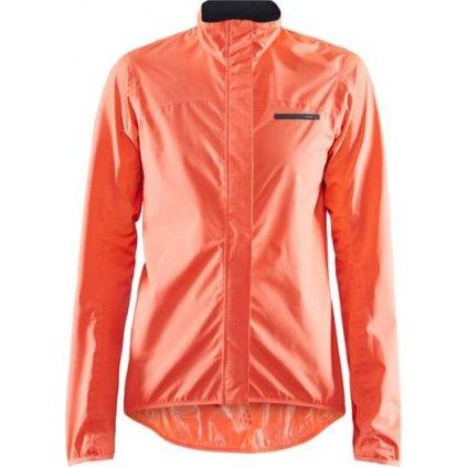 Dámská cyklistická bunda CRAFT Empire Rain oranžová