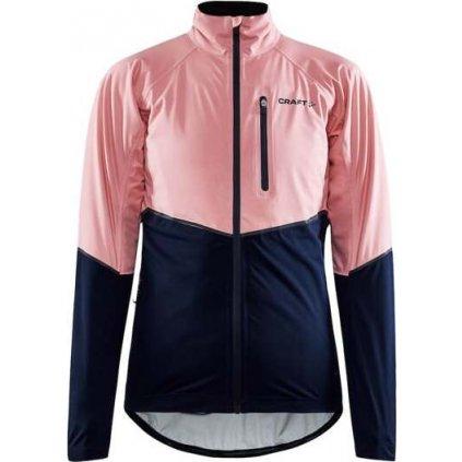 Dámská cyklistická bunda CRAFT Adv Endur Hydro růžová