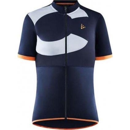 Dámský cyklistický dres CRAFT Core Endur Logo tmavě modrá