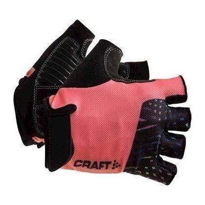 Cyklistické rukavice CRAFT Go lososová