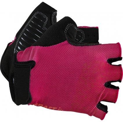 Cyklistické rukavice CRAFT Go růžová