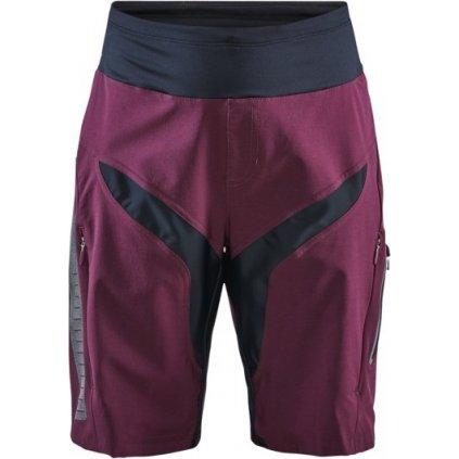 Dámské cyklistické šortky CRAFT Hale Xt Shorts fialová