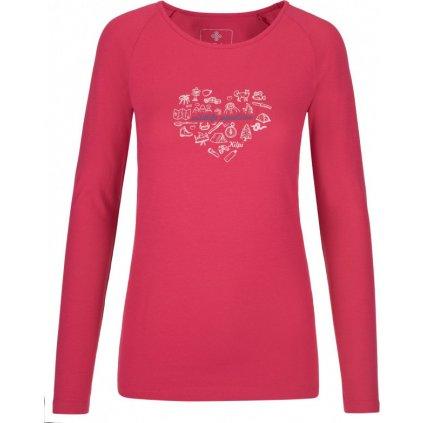 Dámské tričko KILPI Ina-w růžová