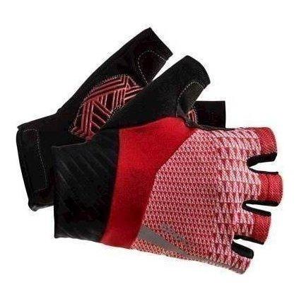Cyklistické rukavice CRAFT Rouleur červená