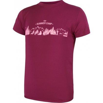Dětské tričko SENSOR Coolmax fresh pt camp modrá fialová