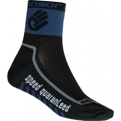 Ponožky SENSOR Race lite hand černá/modrá