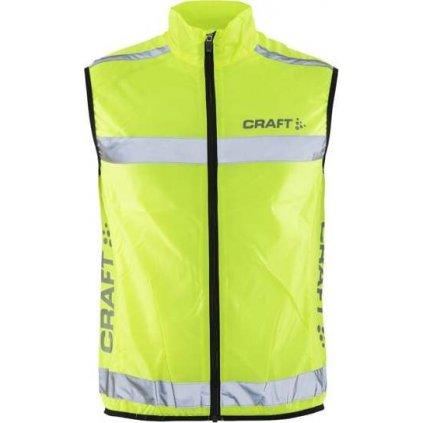 Unisex funkční vesta CRAFT Safety Vest žlutá