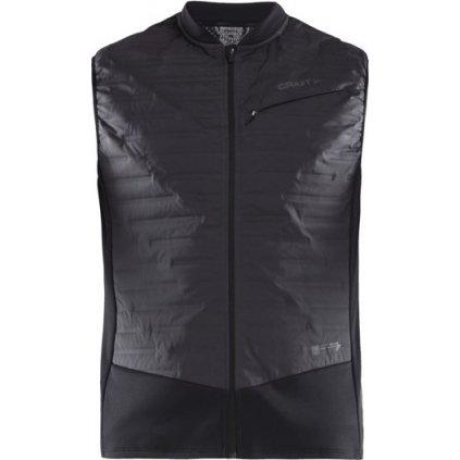 Pánská běžecká vesta CRAFT SubZ Body Warmer černá/šedá
