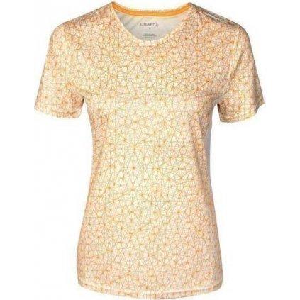Dámské funkční triko CRAFT Mind Ss bílá/oranžová