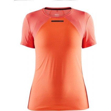 Dámské funkční triko CRAFT Vent Mesh Ss oranžová