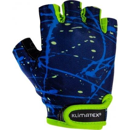 Dětské cyklorukavice KLIMATEX Aled modrá