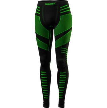 Pánské bezešvé spodky KLIMATEX Mardum černá/zelená