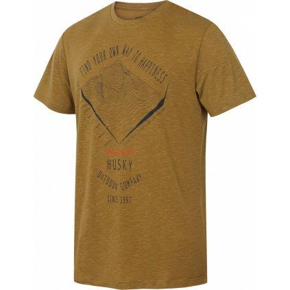 Pánské funkční tričko HUSKY Tingl M khaki