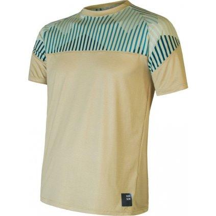 Pánské funkční tričko SENSOR Coolmax impress žlutá/mountains