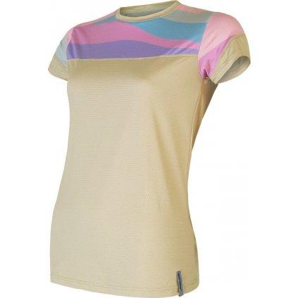 Dámské funkční tričko SENSOR Coolmax impress žlutá/stripes
