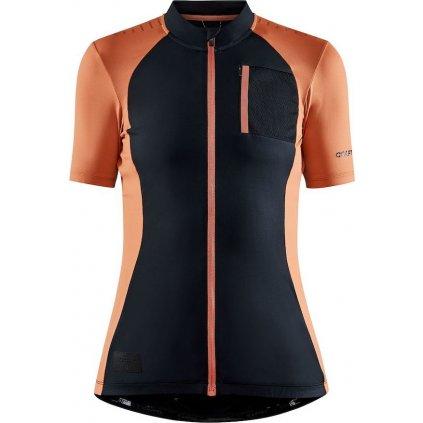 Dámský cyklistický dres CRAFT Adv Hmc Offroad černá/oranžová