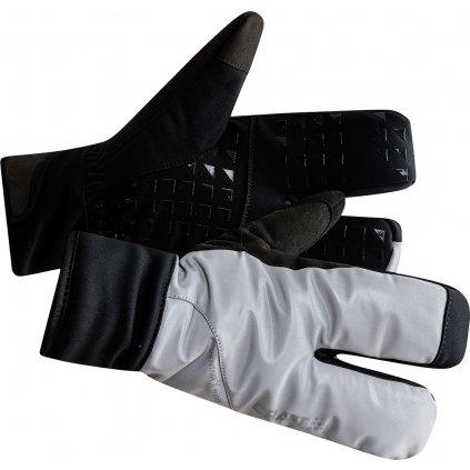Cyklistické rukavice CRAFT Siberian Glow Split Finger černá/šedá