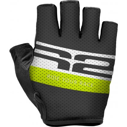 Cyklistické rukavice R2 Ride černé/žluté