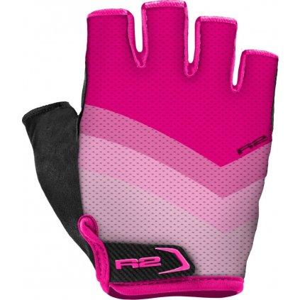 Cyklistické rukavice R2 Ombra růžové