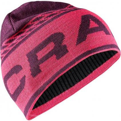 Merino čepice CRAFT Logo Knit fialová/růžová