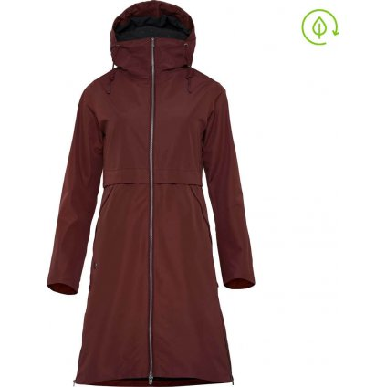 Dámský lehký kabát WOOX Ventus Urban Raisin Chica