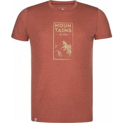 Pánské tričko KILPI Garove-m tmavě červená