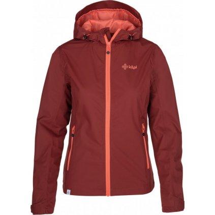 Dámská outdoorová bunda KILPI Orleti-w tmavě červená