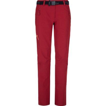 Dámské outdoorové kalhoty KILPI Wanaka-w tmavě červená
