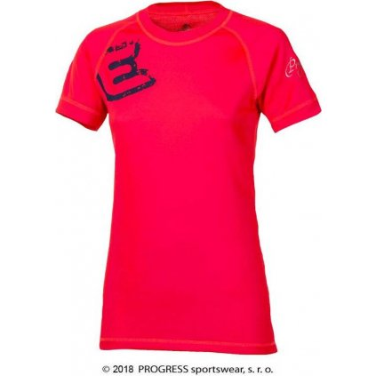 Dámské termo tričko PROGRESS Df Nkrz Print červená