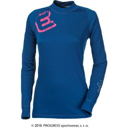 Dámské termo tričko PROGRESS Df Ndrz Print tm. modrá