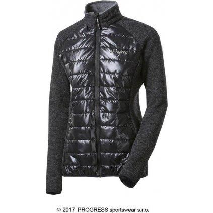Dámská hybridní vlněná bunda PROGRESS Dinara wool černá