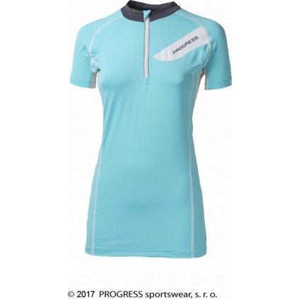 Dámský cyklistický dres PROGRESS Persea sv.modrá