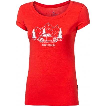 Dámské bambusové triko PROGRESS Liberta Beetle červená